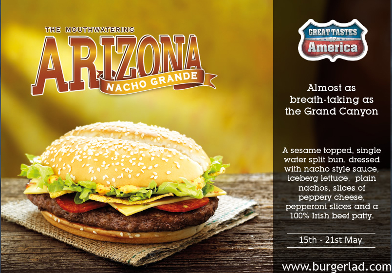 Burger Lad McDonald's Tastes of America Arizona Nacho Grande
