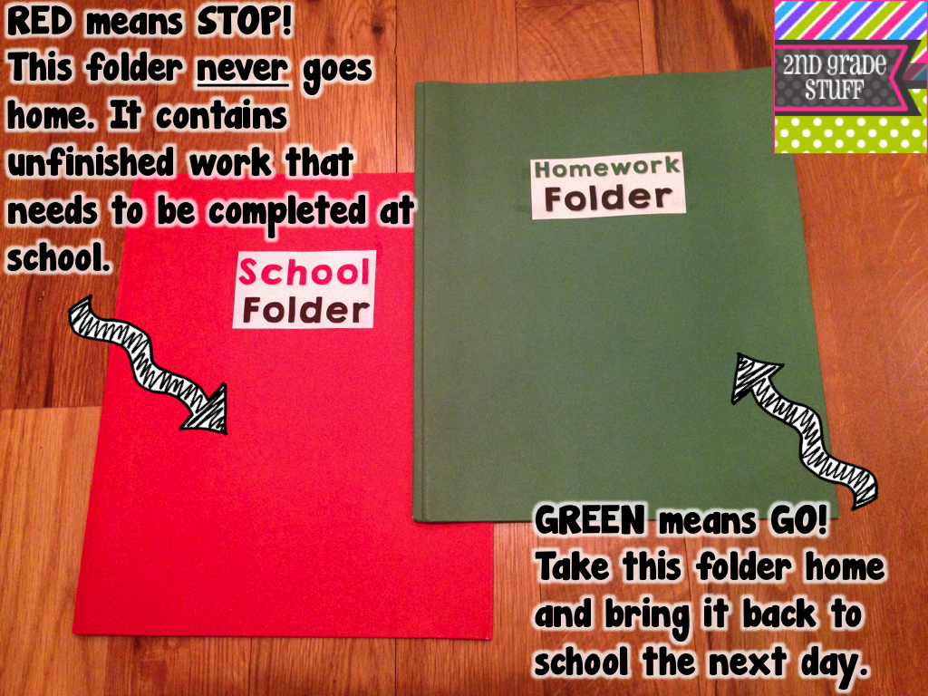 2nd grade stuff keep students organized with folders - How to organize your desk at home for school ...