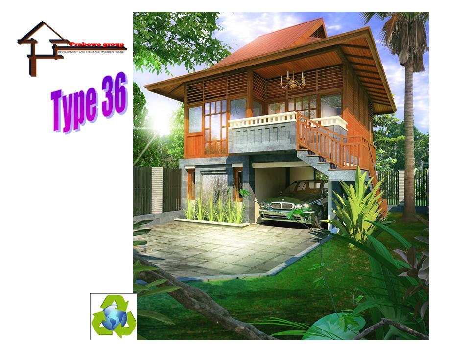 rumah terbuat dari kayu