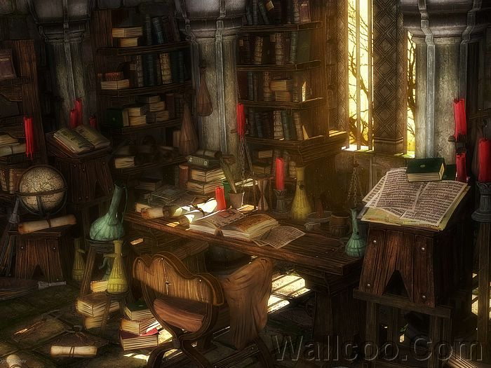 fantasy alchemist lab artwork prints