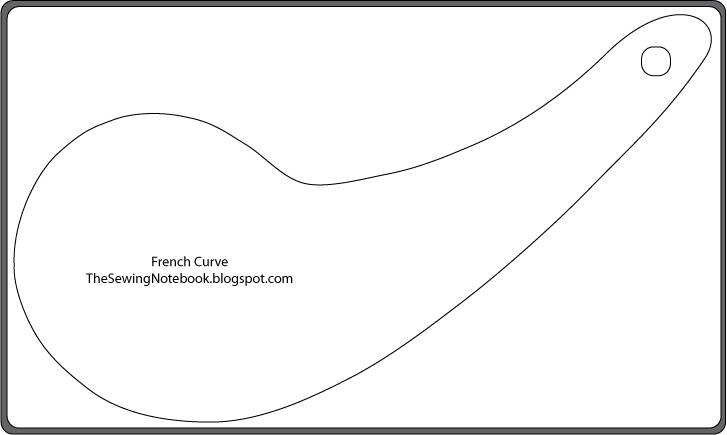 picture relating to Printable French Curve titled The Sewing Laptop computer: Cost-free Printable Patternmaking Applications