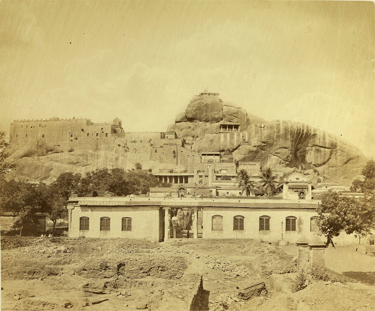 Rock Fort Temple Complex in Tiruchirapalli, Tamil Nadu 1868