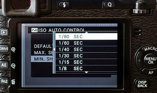 how to set minimum shutter speed on nikon