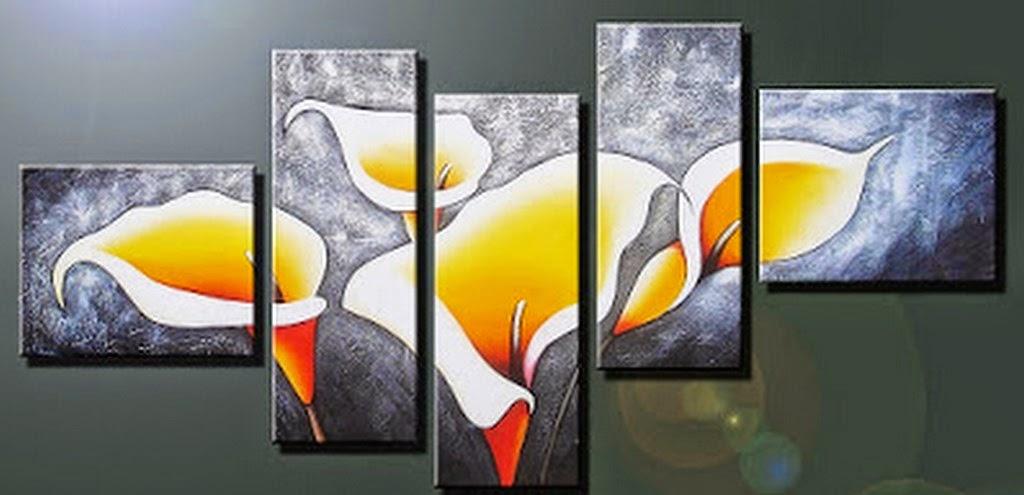 cuadros-abstractos-tripticos-de-flores