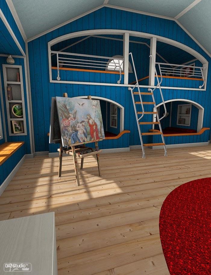 DAZ 3D - La Chambre Grenier