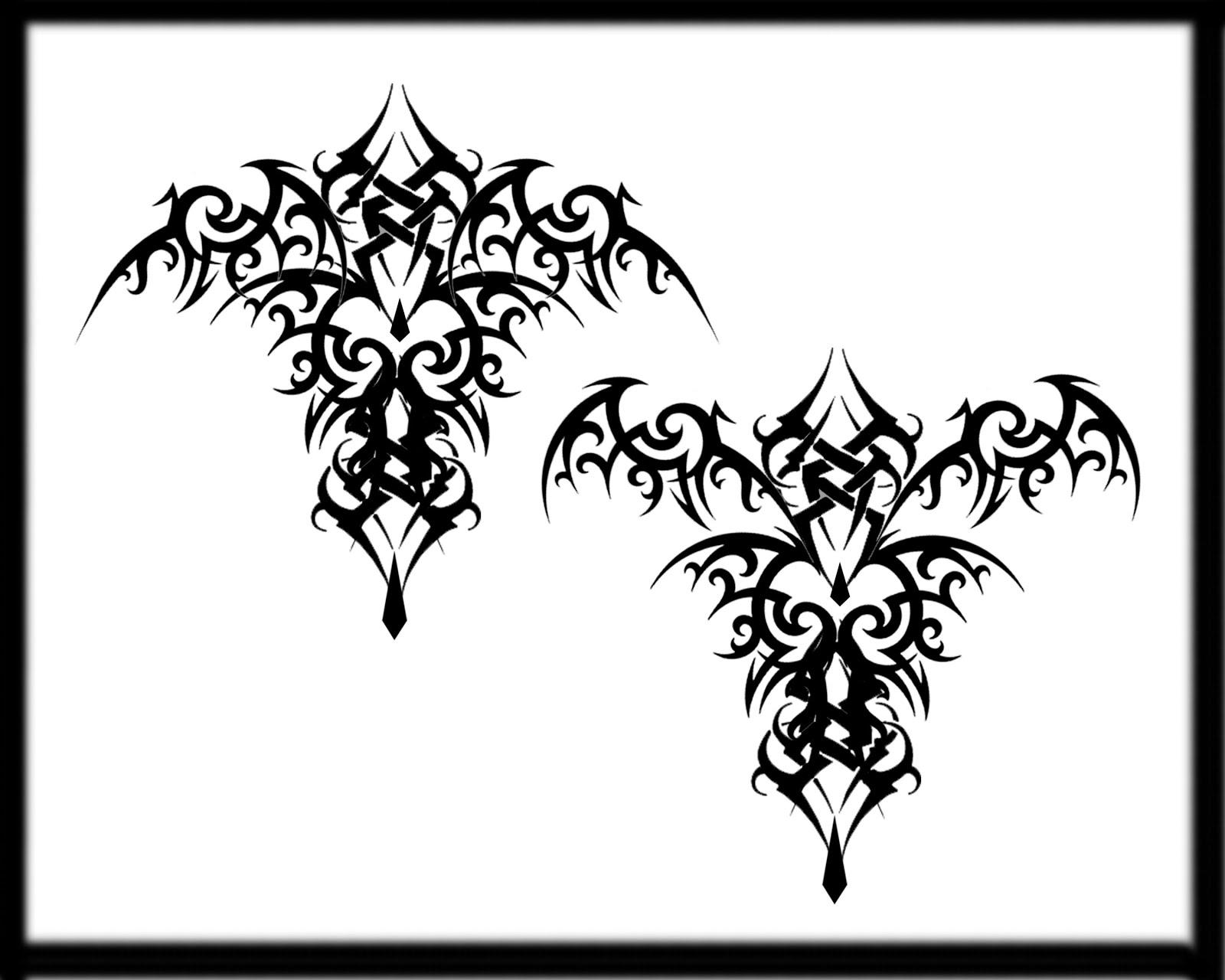 Tribal-Tattoos gothic-bat-tribal-tattoo-design