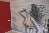 Malowanie salonu fryzjerskiego w warszawie, aranżacja ściany w salonie fryzjerskim