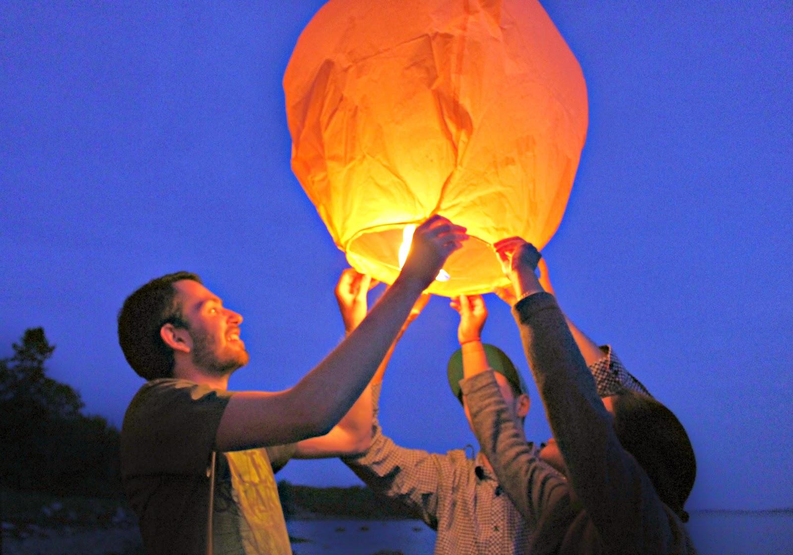 Post Bar Harbor Wedding Wishing sky lanterns