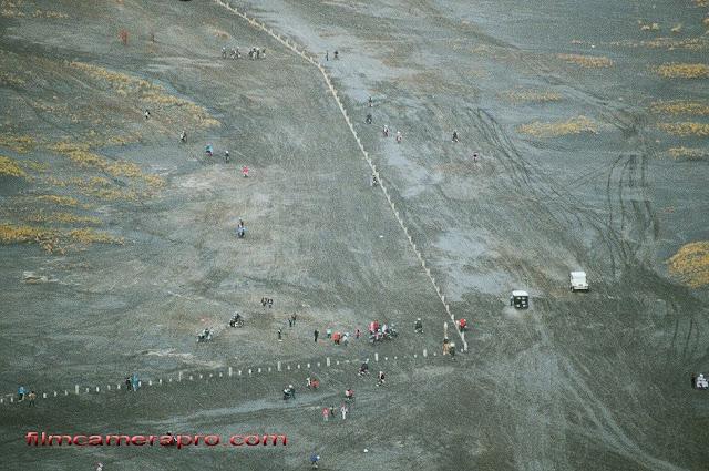 bromo aerial shot