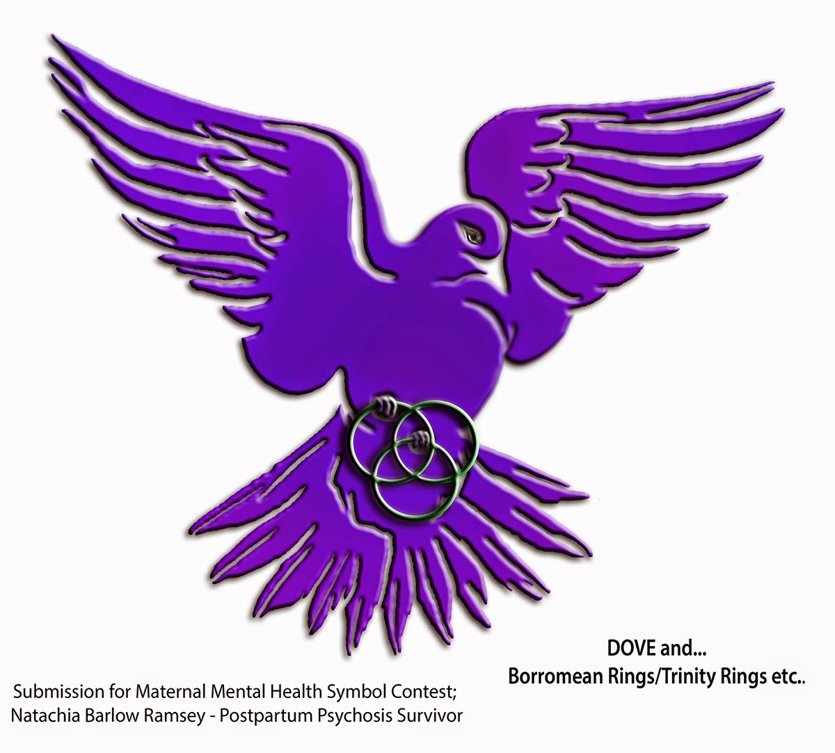 Maternal Mental Health Symbol, postpartum psychosis, maternal mental health, natachia barlow ramsey, postpartum depression, suicide
