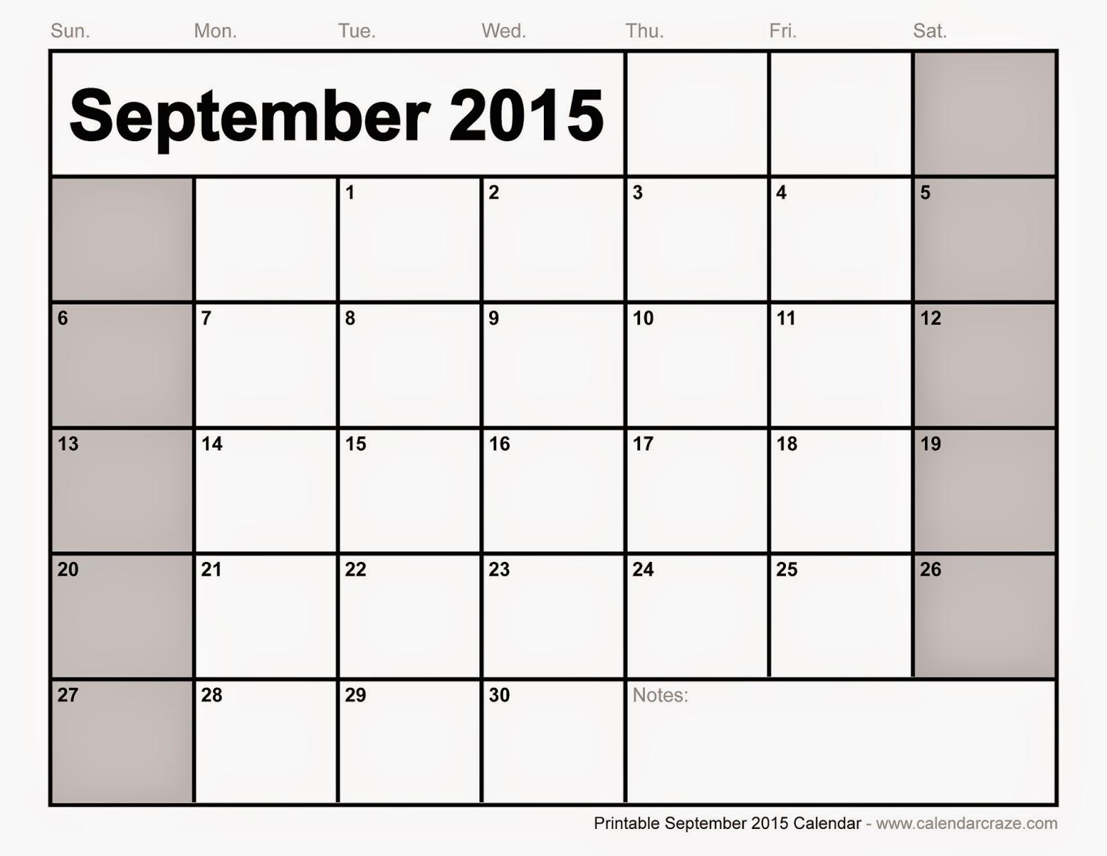 Printables Calendar September : Free printable calendar