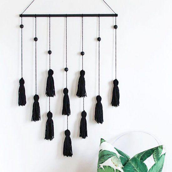 Ideas diy para hacer con borlas o tassels handbox craft lovers comunidad diy tutoriales diy - Wandbehang modern ...