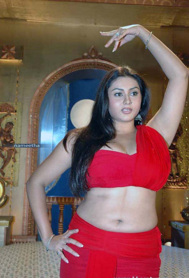 Namitha Navel in Saree Pic 1 - Namitha Navel Pics - Red Hot Saree