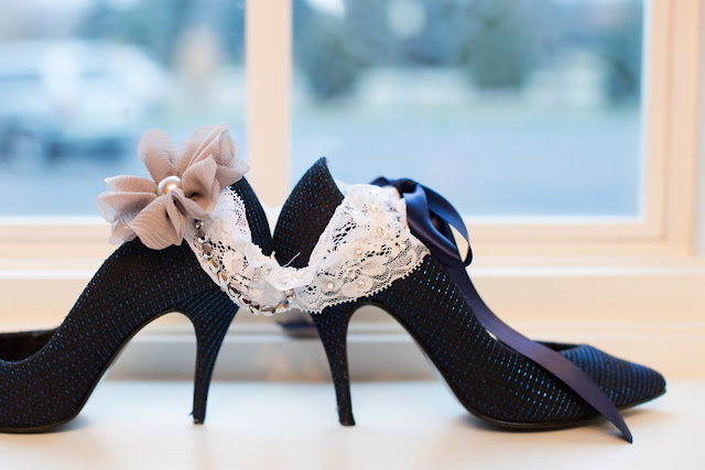 Bride Shoe and Garter Shot