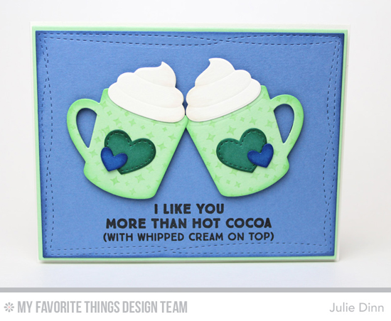 With Whipped Cream on Top Card by Julie Dinn featuring the Laina Lamb Design Hug in a Mug stamp set and the Laina Lamb Design Hot Cocoa Cups Die-namics #mftstamps
