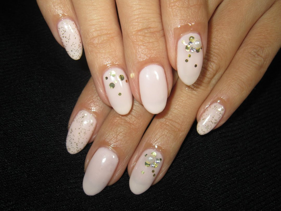 Cute Nail Designs Light Pink Simple Mix Nails