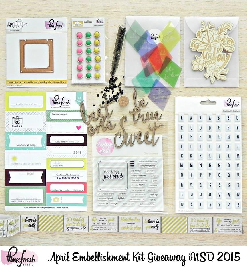 Pinkfresh Studio April Embellishment Kit