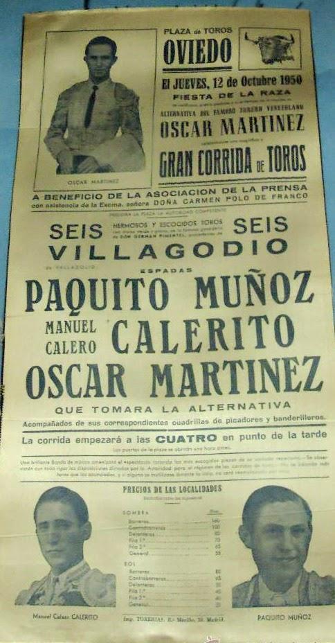 OVIEDO NOVILLADA 1950