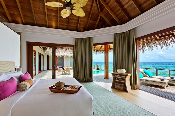 Luxury bedroom in Luxury Dusit Thani Resort in Maldives