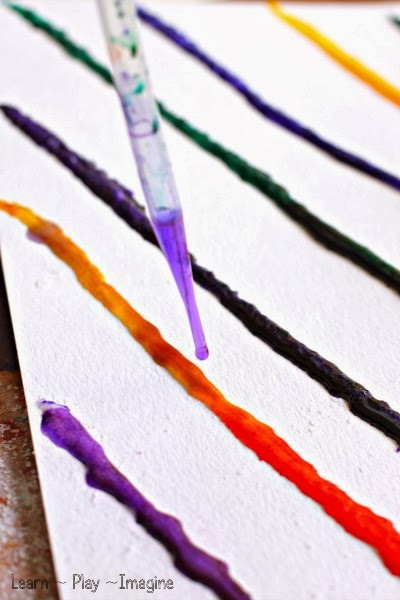 Color mixing with watercolor paint