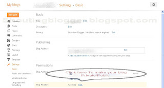 how to create private blog on blogger