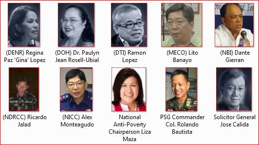 Quick List of President Rodrigo Duterte Cabinet Members ~ PH Trending