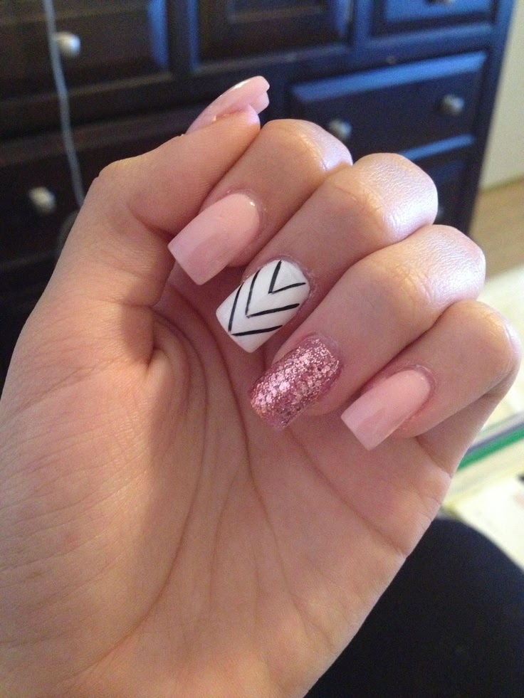 Light Pink Acrylic Nails Nail Art And Tattoo Design
