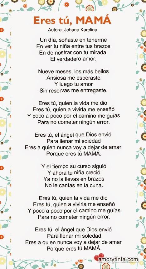 imagen con poema para el dia de las madres