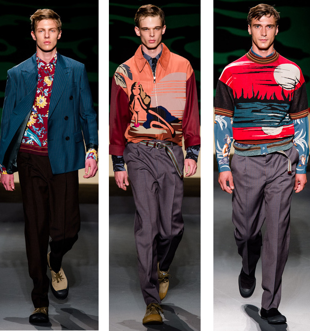 prada mens spring 2014 tropical shirts and jackets