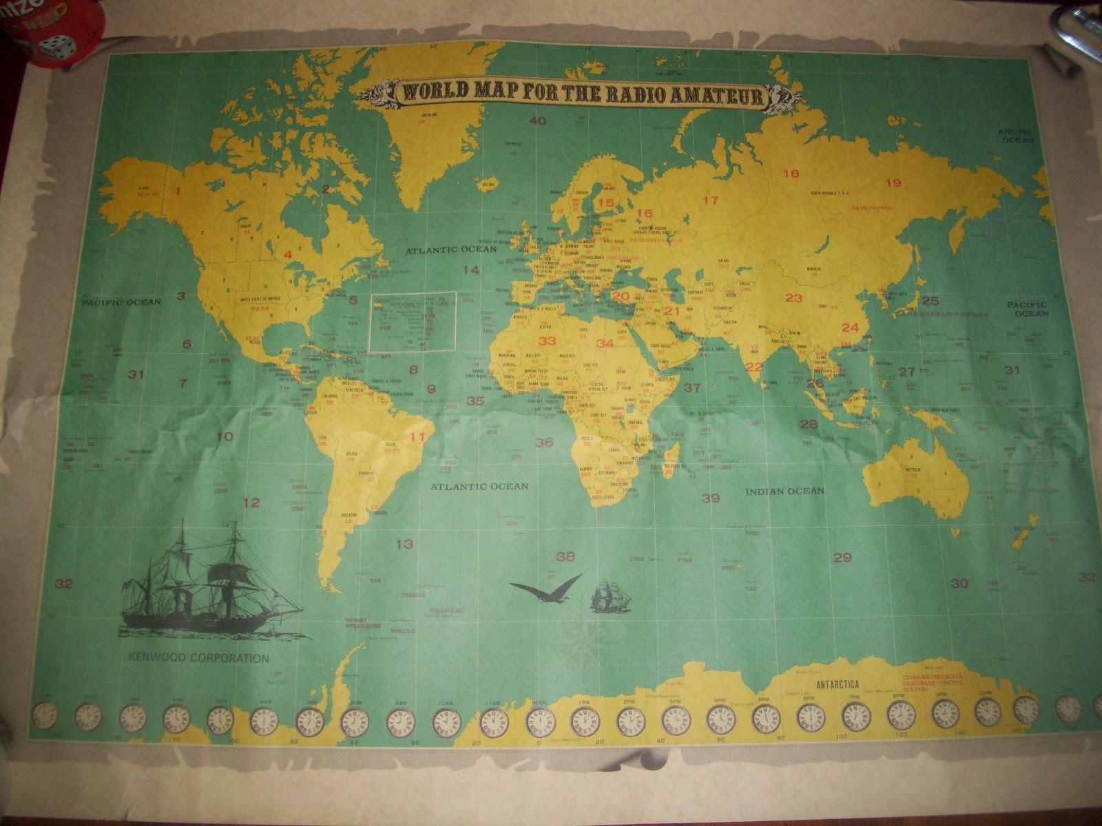 My favorite things world map for the radio amateur the map itself was in great condition never been folded a neat piece that appealed to radio map and history enthusiasts gumiabroncs Gallery