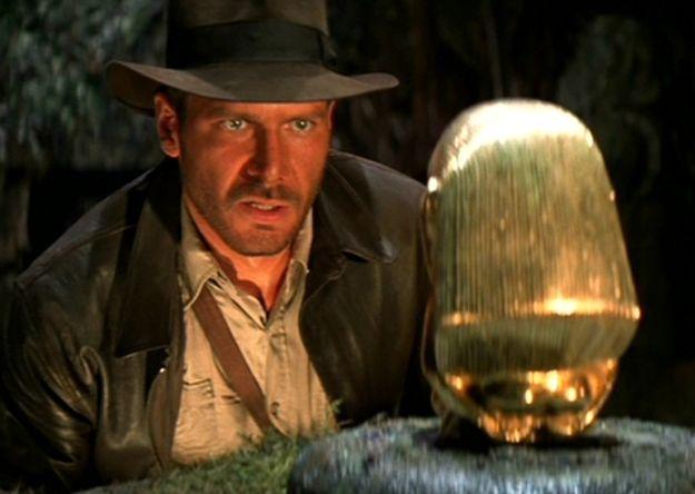 Escena de 'Indiana Jones: En busca del Arca Perdida', protagonizada por Harrison Ford. Dirigida por Steven Spielberg y producida por George Lucas. Making Of. Cine