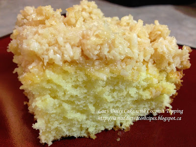 Lazy Daisy Cake with Coconut Topping | Addicted to Recipes