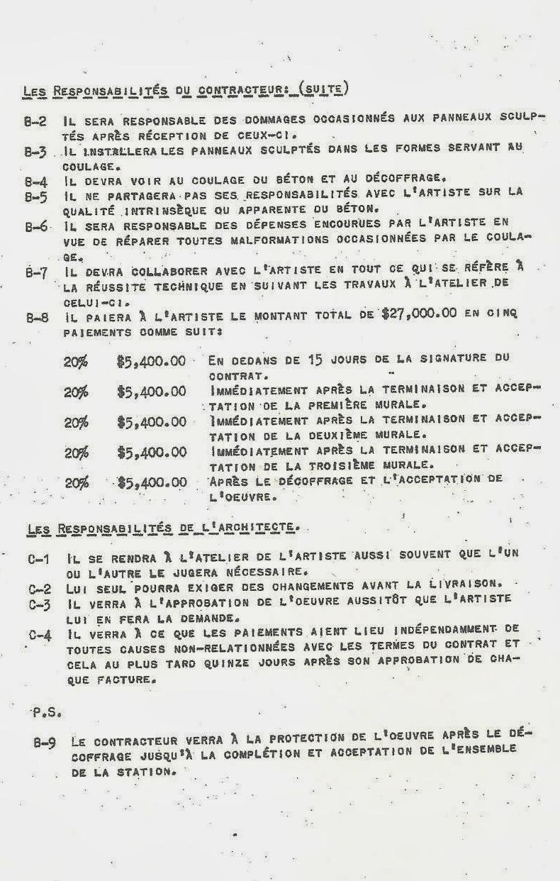 Lettre de Jordi Bonet à la stcum concernant la station pie-ix 1973