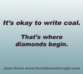 How to Silence Your internal Editor. It's Okay to write coal. That's where diamonds begin.