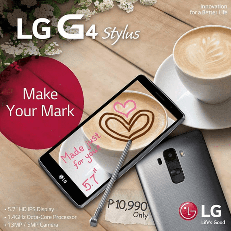 LG G4 STYLUS NOW IN THE PHILIPPINES! PRICED AT 10,990 PESOS!