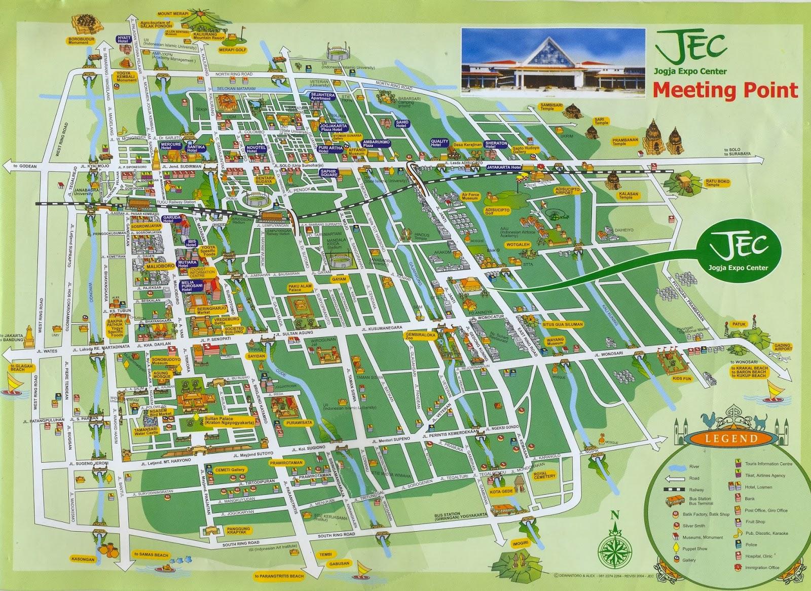 Map Keraton Yogyakarta - Yogyakarta map