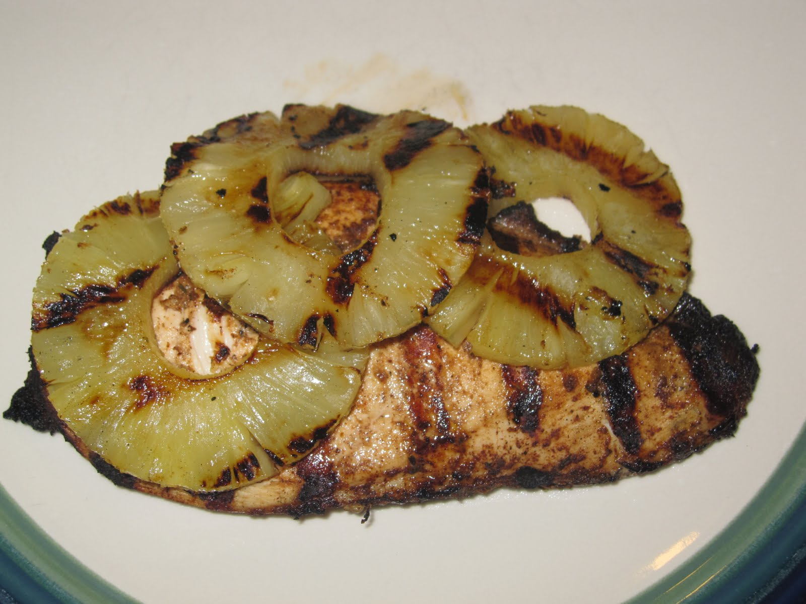Marlena's Menu: Grilled Jerk Chicken and Pineapple