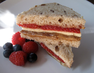 Almond Butter Banana Jammin Sandwich