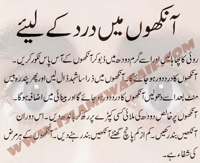 aankho ke dard ka ilaj in urdu