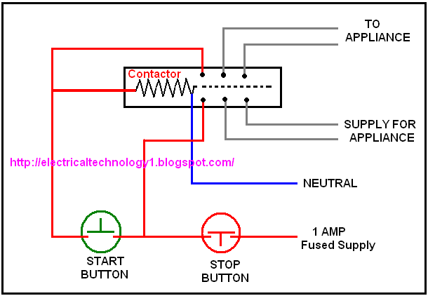 Working Of Contactor  A Simple Circuit Diagram