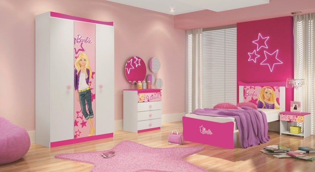 Dormitorios color rosa tema barbie dormitorios colores y for Habitaciones decoradas para ninas