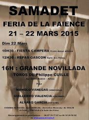 Manolo Vanegas, anunciado en Samadet, Francia el 22/03/2015.