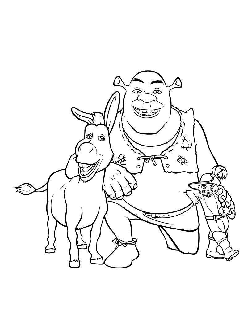 Unique Comics Animation: top shrek coloring pages 02