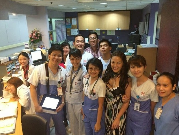 KC Concepcion with St. Luke's BGC staff and nurses
