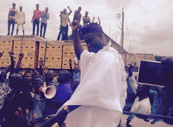 See How the Ooni of Ife entered Ile Ife in style