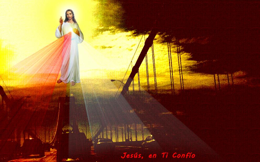 divina misericordia en un puente de estados unidos