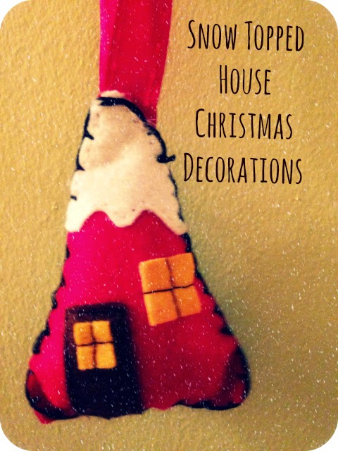 Made: Snow Topped House Christmas Tree Decorations