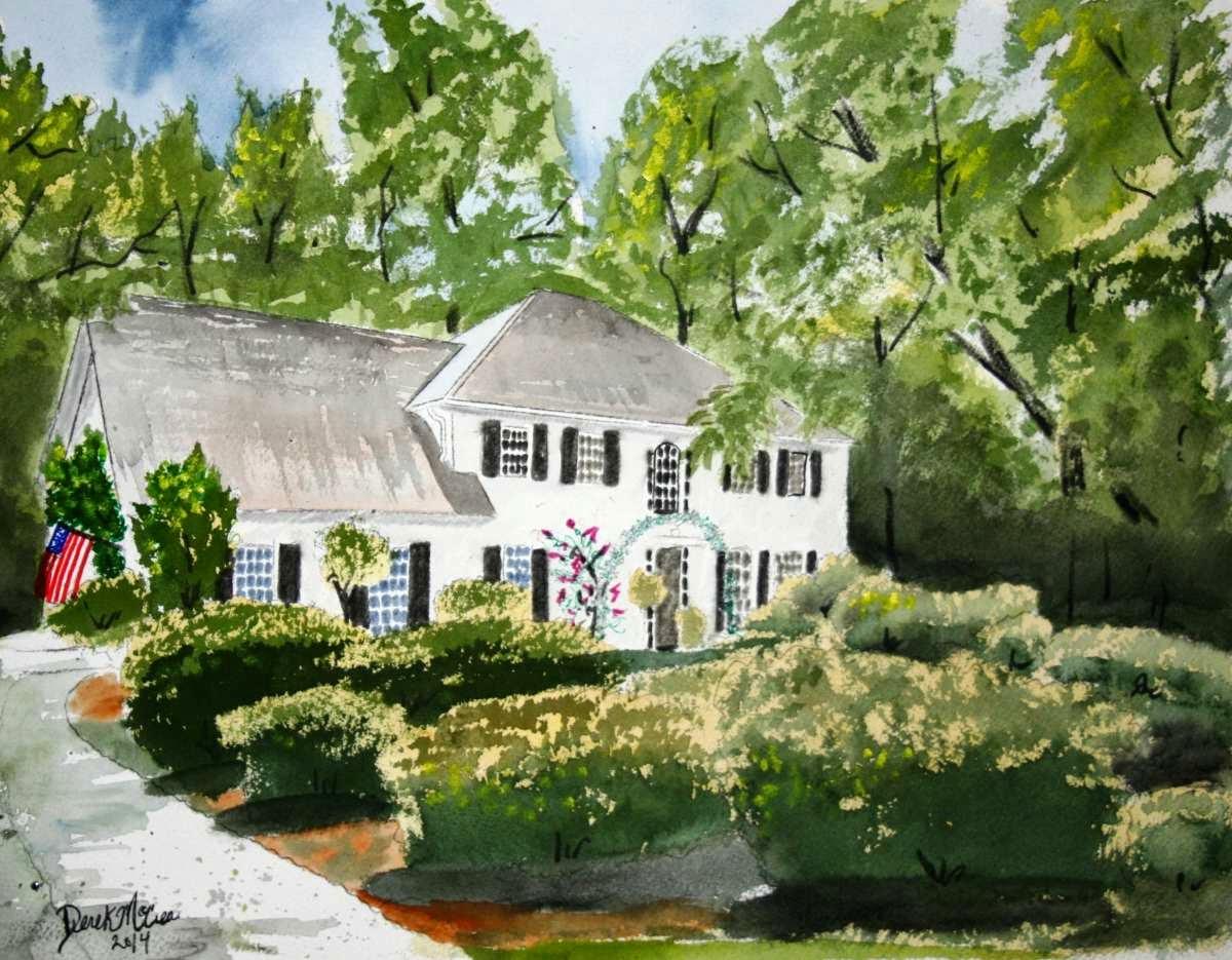 Watercolor Paintings - Art by Derek McCrea: House ...