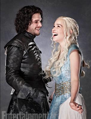 Daenerys Targaryen Emilia Clarke Jon Nieve Kit Harington Entertainment Weekly - Juego de Tronos en los siete reinos