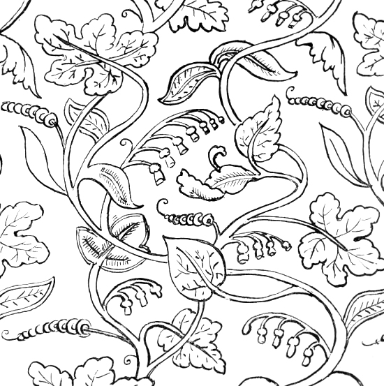 Historical Embroidery Patterns Plates 11 14 Prickly Pins